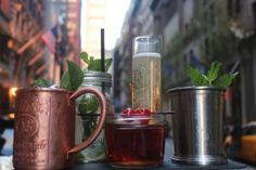 The Storied Algonquin Hotel Bar Is Now Serving Mojitos in Mason Jars #nyc #travel #hotel