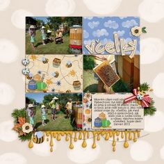 Digital layout using Believe In Magic: Honey Bear by Amber Shaw and Studio Flergs