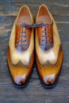 Patina by Dandy Shoe Care Shoes so wet you can see the camera man silhouette ..