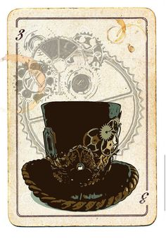 Making a Steampunk card for my Sister... #brianlapsley