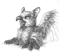 Little Griff Griff by FlowerlarkChimera, myth, gryphon #Mythical #Fantasy #Creature mythological chimera,chimera