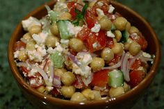 Israeli Salad with Feta.