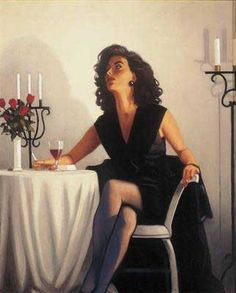 Jack Vettriano Google Image Result for http://www.portmanart.com/images/pieces/TableforOne.jpg
