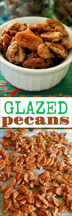 These candied pecans make great holiday gifts. They are also great to serve at parties. Sweet and oh so addicting! Glazed Pecans, Candied Pecans, Easy Family Meals, Easy Meals, Vegan Banana Bread, Christmas Baking, Xmas Food, Christmas Treats, Food Gifts