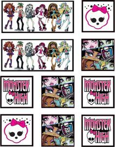 Moldes Prontos para Festinha Monster High! - Fazendo a Minha Festa