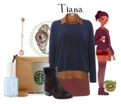 """Punziella: Tiana"" by merahzinnia ❤ liked on Polyvore featuring Belpearl, FOSSIL, Topshop, J.TOMSON, Vero Moda, Fiorentini + Baker and Essie"
