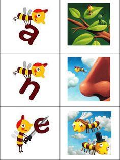 Memory -- Veilig Leren Lezen Combineer de letter met het structureerwoord van veilig leren lezen. Klik hier om het spel te opene...