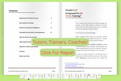 Earn More Work Less, Tutor, Teach, Coach Online - Click For Full Report    http://www.synergymarketingpro.com/online-training-and-coaching-for-teachers-and-coaches/