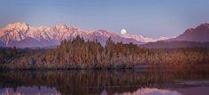 Moonrise, Okarito Lagoon, Westland, N. art print photographed by Andris Apse. Aspen, West Coast Nz, Long White Cloud, Limited Edition Prints, New Zealand, Trek, Landscape Photography, Landscapes, Colours