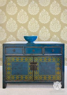 Zari Border & Corner Indian Stencil | Royal Design Studio