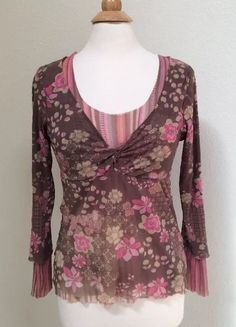 Anthropologie Sweet Pea Long Sleeve Women's Top Size M | Clothing, Shoes & Accessories, Women's Clothing, Tops & Blouses | eBay!