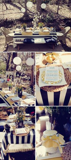 This whimsical outdoor baby shower has the perfect touch of fairytale! #HonestBabyShower