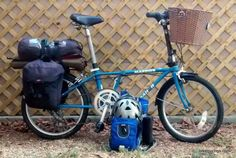 Picture of Dahon Mariner Folding Bike with rack and panniers for bike touring