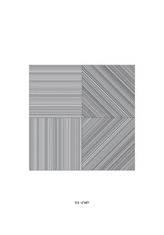 Reproduction of a work by Sol LeWitt