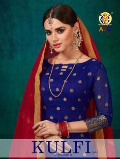 cbd3f7d86bc Avc Kulfi Vol 3 Banarasi Silk Dress Materials Wholesale Rate