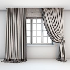 Buy Two-color light curtains, Roman blind by tanya_s on Two-tone Roman, straight and curtains with pick-up brush in beige and brown tones and a window with layouts. Two Tone Curtains, Fancy Curtains, Modern Curtains, Colorful Curtains, Luxury Curtains, Living Room Decor Curtains, Home Curtains, Dining Room Walls, Curtains With Blinds