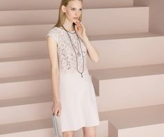 Pretty Pastel Pink dress by Marc Cain Http://www.izziofbaslow.com
