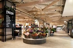 Dovetail design group retail interior design top ryde city f Interior Columns, Retail Interior Design, Commercial Design, Commercial Interiors, The Glen Shopping Centre, Shopping Mall Interior, Flower Cafe, Industrial Chic Style, Mall Design