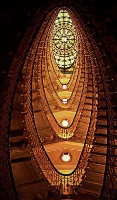Clássico Escadaria em Bristol Palace Hotel em Gênova - Itália