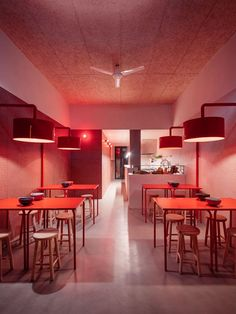 Noodle Restaurant, Cafe Restaurant, Restaurant Design, Light Architecture, Architecture Design, Asian Cafe, Tile Covers, Small Tiles, Art Deco Buildings
