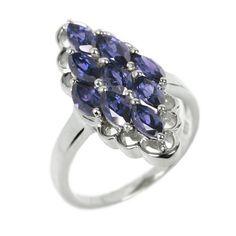 Stříbrný prsten Silvego s modrým iolitem RSG36352I velikost 50