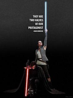 Kylo Ren and Rey #starwars