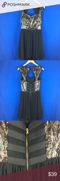 Guess sequined party dress 🎉 Fun and flirty sequined party dress. I wore this once for NYE! Guess Dresses Asymmetrical