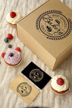 logo for Confectionery Baking Packaging, Cake Packaging, Food Packaging Design, Brand Packaging, Branding Design, Menu Design, Packaging Ideas, Design Design, Bakery Branding