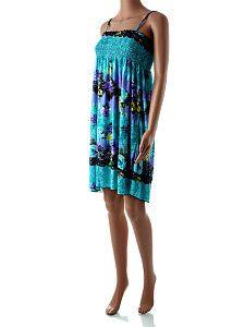 Modré letné šaty po kolená Only Star  Padavé volné ľahké bledomodré šaty po kolená s potlačou kvetín a žabkovaním okolo celého hrudníka. Šaty majú nastaviteľnú dĺžku ramienok a sú vhodné aj ako tunika k legínam, či úzkym nohaviciam.  http://www.yolo.sk/saty/modre-letne-saty-po-kolena-only-star