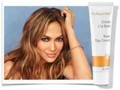 Precious extracts of rose petals and wild rose hips nurture and balance the skin Shea butter, rose petal wax and avocado oil protect and help retain moisture Extracts of marsh mallow and St. John's wort soothe redness, hydrate and fortify. Dr. Hauschka Rose Day Cream is a beauty secret from Jennifer Lopez  www.villagespas.com #Jenn #Skincare