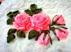 ENCANTANDO LINHAS: Bordado de rosas com fita