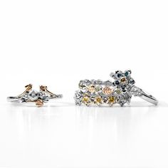 The finer things... Sparkling #gemstone set stacking rings - what's not to love?