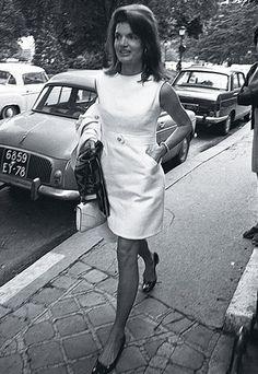 You can't beat a white sheath dress.