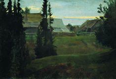 Boris Kustodiev (Russia, 1878 – 1927)  Village Maureeno, Kostroma, 1905