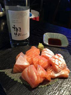 Fresh salmon with soju~