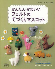 Handmade Cute FELT MASCOTS  n3396 Japanese Craft Book di PinkNelie, $26.00