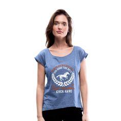 Geschenke Shop   pferde spruch - Frauen T-Shirt mit gerollten Ärmeln Pullover, V Neck, Hoodies, Wild Hearts, Tops, Online Shopping, Wheels, Fashion, Black Women