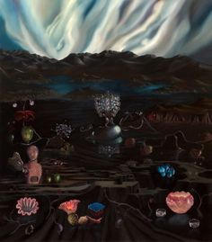 Maryrose Crook ''The surfaces of Maryrose Crook's seven luminous oil canvases alternate between an inky blackness and flashes of brilli. Detailed Paintings, Vanitas, Art Google, Art Boards, New Art, Surrealism, Mary, Rose, Google Search