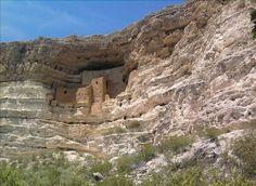 Montezuma Castle; in Arizona...i enjoyed the beautiful national park near Sedona