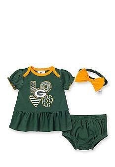 Outerstuff NFL Baby Bodysuit, Baby Boys Green Bay Packers Bodysuit ...