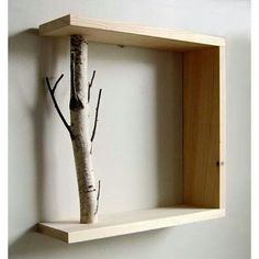 One side of a box missing? use a branch and create a branch shelf