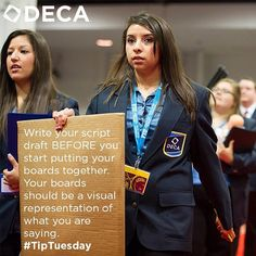 Write your script draft BEFORE you start putting your boards together. Your boards should be a visual representation of what you are saying. #TipTuesday
