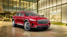 Mercedes Benz has unveiled their new Vision Mercedes Maybach at Auto China 2018 in Beijing, the car is a crossover of a high end sedan and a high end SUV. Mercedes Benz Maybach, Mercedes Auto, Van Mercedes, Audi, Porsche, Millionaire Lifestyle, Luxury Lifestyle, Mustang, Lamborghini