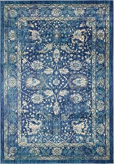 A2Z Rug Navy Blue 7' x 10' FT St. Martin Collection Area ...