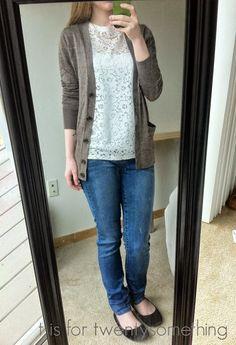 Alantis Lace Top, Liverpool Skinny Jeans | Stitch Fix #2: April 2015 ~ t is for twentysomething