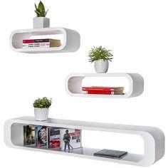 Köp TecTake 3 vägghyllor Heike vit med fri frakt | Fyndiq