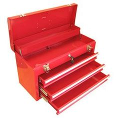 Carver Tool Box in Red I