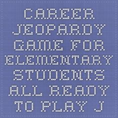 Career Jeopardy Game For Elementary Students   All Ready To Play Just With  Your Students!