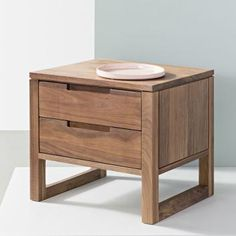 Bruno 2 Drawer Timber Bedside Table - Solid Walnut Wood - Over products from furniture retailers. Cash rebates when you buy. Walnut Bedside Table, Bedside Tables, Home Furniture, Furniture Design, Interior Design Tools, Walnut Timber, Wooden Side Table, Bedroom Closet Design, Furniture Retailers