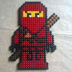 Lego Ninjago hama beads by marlenebanghalgaard